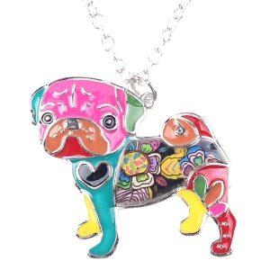 Pug Dog Pendant Necklace