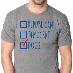 Republican Democrat Dogs Funny political shirt - Mens Small