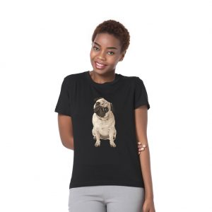 Summer Shari Pie Dog Print Men Women T-Shirt Short Sleeve Top Casual Couple Tee