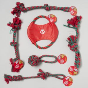 Christmas Dog Toy Rope Chews - Assorted Case Pack 72