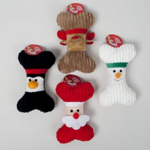 Christmas Plush Bone Dog Toy Case Pack 36
