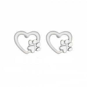 Cute Silver Gold Bear Stud Earring Cat Dog Paw Claw Earrings For Women Animal