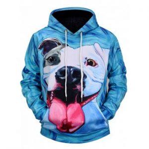 Dog Digital Print Hooded 3D Sweater