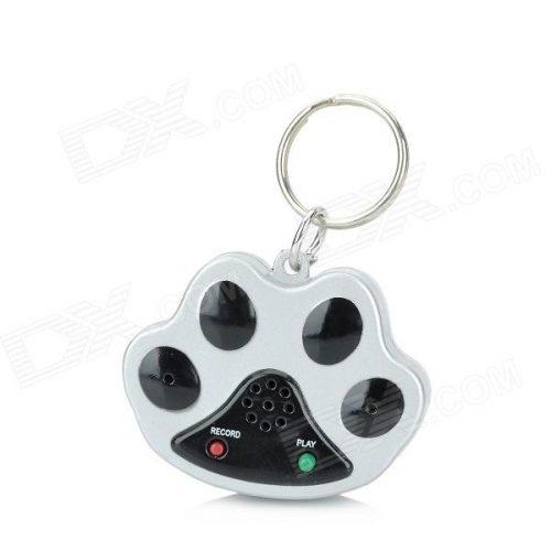 Pet Dog Safety Recorder Collar Tag - Black + Silver (2 x AG13)