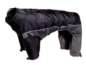 Touchdog Adjustable and 3M Reflective Dog Jacket Black - XL, Black Gray